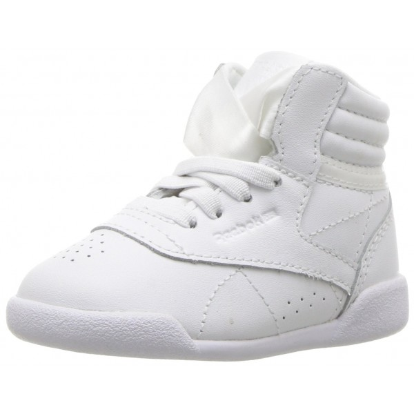 Reebok Freestyle Hi Satin Bow (White/Skull Grey) G...